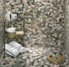 top river rock tiles for the bathroom for your interior design