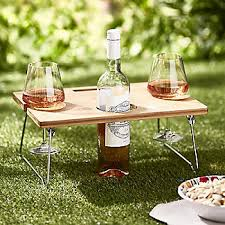 outdoor wine glass holder table outdoor mini wine table with wine glass holders lakeland