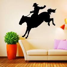 online shop zuczug horse wall stickers black pvc wild west mustang
