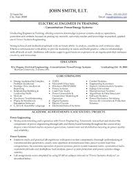 sample resume electrician electrical engineering and more
