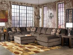 furniture suede oversized sofas living room with drum table