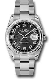 rolex steel oyster bracelet images Rolex datejust 36 steel domed bezel oyster watches jpg
