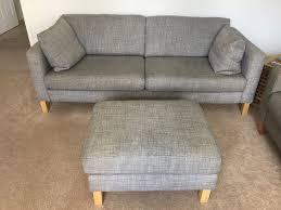 Karlstad Sofa And Chaise Lounge by Ikea Karlstad Isunda Grey 3 Seat Sofa With Cushions And Foot Stool