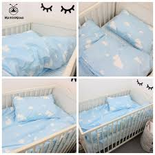 Design Crib Bedding 3pcs A Set Baby Bedding Set Blue Clouds Design 100 Cotton
