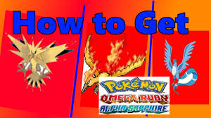 Omega Ruby How To Get Zapdos Moltres Articuno In Pokemon Omega Ruby And Alpha