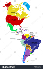El Salvador On World Map by North America South America Map Roundtripticket Me