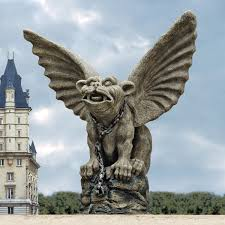 gargoyles create a gothic garden theme with gothic dragon gargoyles