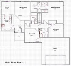 Center Hall Colonial Floor Plan Open Floor Plan Ranch Homes Open Floor Plan For Ranch Homes