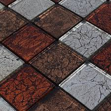 glass backsplash tiles maple leaf glass mosaic flooring zz009