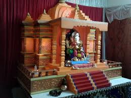 ganpati makhar full view and decoration with 1600x1200 204516