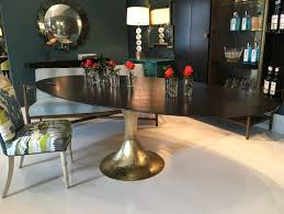 oval dining room tables custom color dakota oval lacquered table mecox gardens