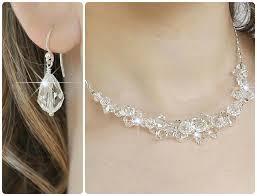 swarovski crystal necklace set images Crystal bridal jewelry set swarovski wedding by somethingjeweled jpg