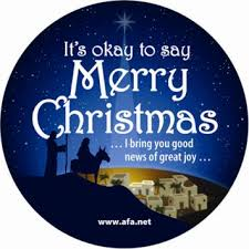 christian demands that we all say merry merry