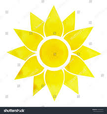 solar plexus solar plexus chakra symbol concept flower stock illustration