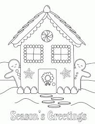 coloring pages gingerbread house coloring home