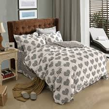 Geometric Duvet Cover Aliexpress Com Buy Black And White Polka Dot Heart Colorful