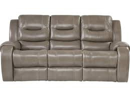 Contemporary Sofa Recliner Grey Leather Recliner Sofa Home Surprising Top Contemporary