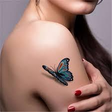 tatuagem temporária 3d borboleta tattoo henna cartela 6un r