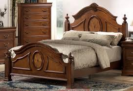 Antique Finish Bedroom Furniture by Caramel Finish Elegant Antique Bedroom W Arched Shape Bed
