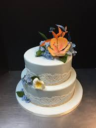 Tropical Theme Birthday Cake - tropical flowers and lace 1 508x677 jpg
