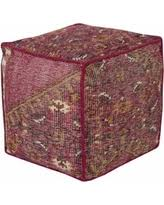 Pink Pouf Ottoman Get The Deal 23 18 Tropical Hassock Hibiscus Pink And