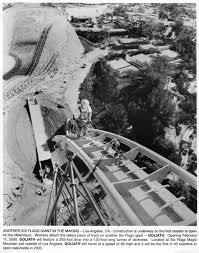 Goldrusher Six Flags Magic Mountain Scvhistory Com Lw2567 Magic Mountain Goliath Rollercoaster