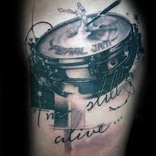 70 drum tattoos for men musical instrument design ideas