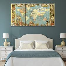 Beautiful World Map by Compare Prices On Map Paintings Online Shopping Buy Low Price Map