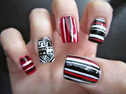 nail designs on red nails best nail 2017 29 red and black nail