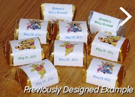 winnie the pooh baby shower favors custom candy bar wrappers mini nugget favors