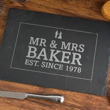 engraved anniversary gifts personalised anniversary slate cheeseboard 10th wedding
