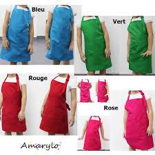 tablier bleu marine tablier de cuisine uni enfant rouge vert bleu rose