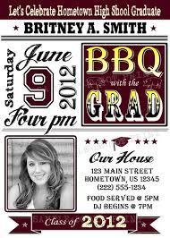 personalized graduation bbq photo invitations graduation