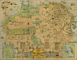 San Francisco Sightseeing Map by A 1927 San Francisco Tourist Map Shows Sutro Forest Save Mount