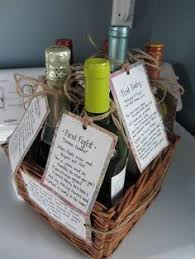what of gifts to give at a bridal shower milestone wine basket bridal shower give a basket containing