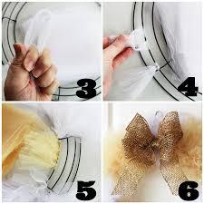 tulle wreath craft tutorial