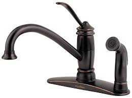 pfister lf034 3als brookwood 1 handle kitchen faucet with side
