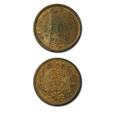 Union Army Flag Usa Civil War Token The Flag Of Our Union 1863 Unc Army