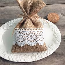 gift bags for weddings burlap and lace wedding favors rustic diy gift bags ewfb068 as low