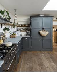 rustic blue gray kitchen cabinets blue kitchen wood floor kitchen grey shaker kitchen grey