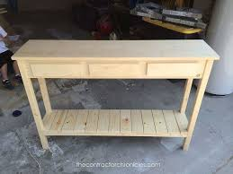 how to build a table with drawers how to build a sofa table with drawers www gradschoolfairs com