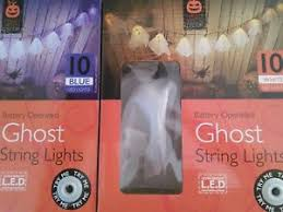 halloween ghost string lights x2 halloween ghost string lights decoration blue and white battery