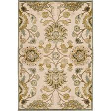 Home Depot Floor Rugs Artistic Weavers Lauren Ivory Viscose And Chenille 7 Ft 6 In X