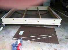Diy Platform Bed Base by Diy Stained Wood Raised Platform Bed Frame U2013 Part 1 Diy Platform