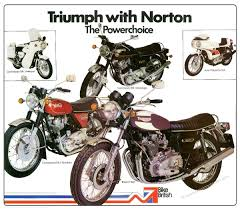 nvt triumph trident u0026 norton commando poster by classicmotorads