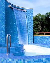 Pool Backyard Design Ideas Furniture Foxy Waterfall For Swimming Pool Backyard Design Ideas