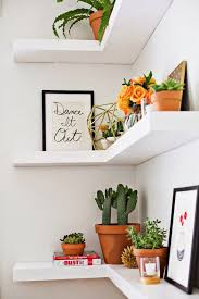 Wall Corner Shelves by Living Room Created With Upholstered Sofa With Wooden End Table