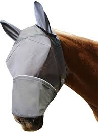 nose mask derby originals reflective fly mask with ears nose cover