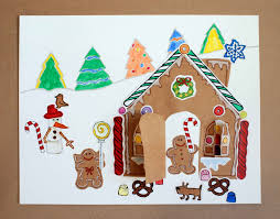 gingerbread house paper craft kit for kids a peekaboo house