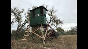 Elevated Bow Hunting Blinds Diy Elevated Deer Blind Instructions Youtube